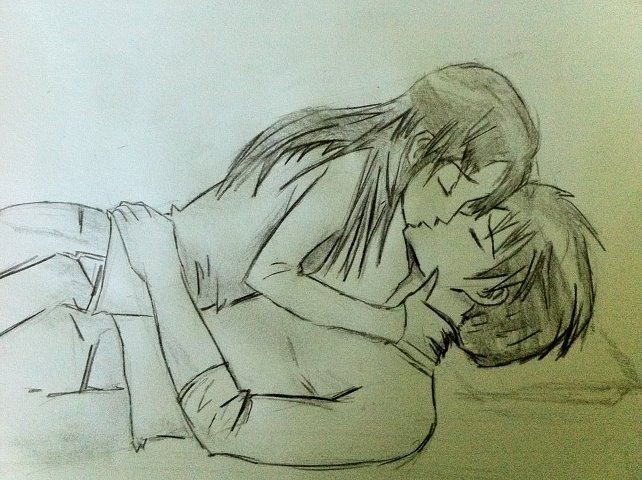 642x480 manga couple kissing by dbzfanmike on deviantart