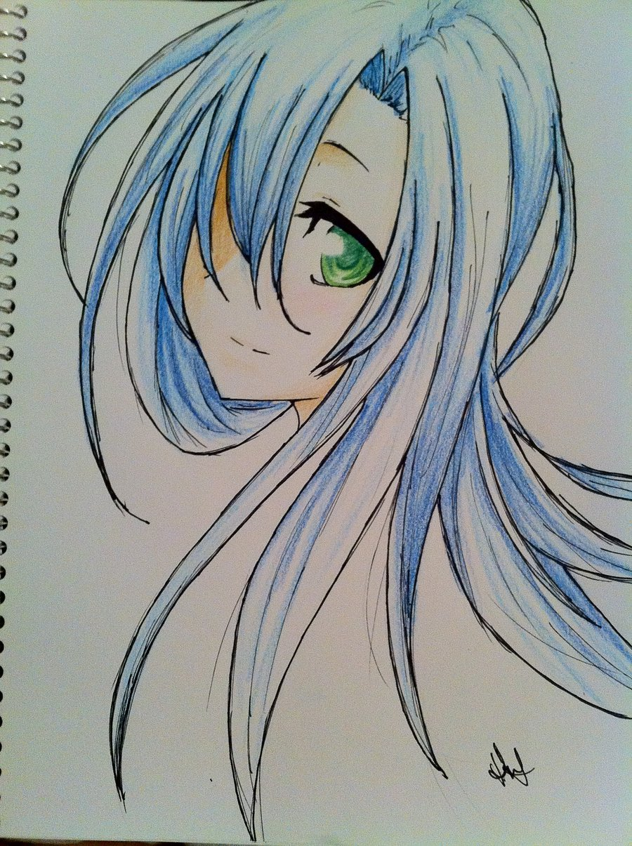 900x1205 Cute Anime Girl. By Hannitee