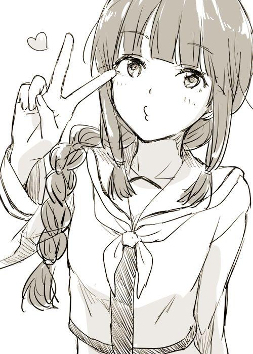 500x700 Haha Shes Cute Manga Girl Walls Doors