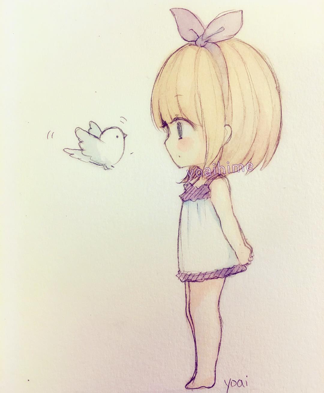 1080x1312 Easy Cute Anime Drawings I Draw A Cute Anime Girl
