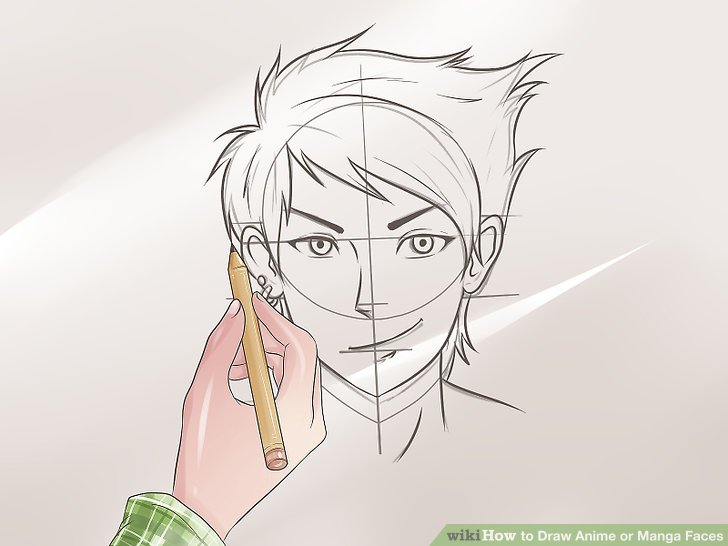 Line Art Anime : Anime drawing face at getdrawings free for personal use