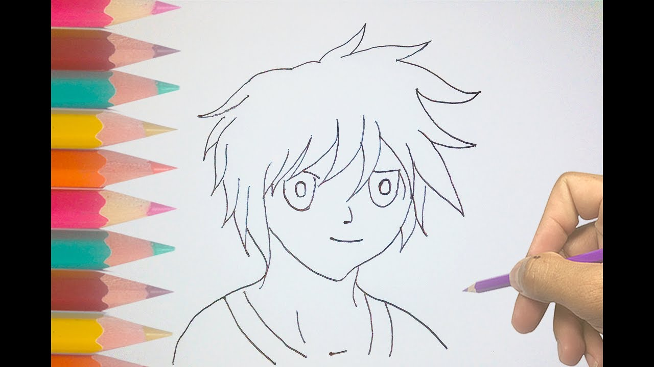 1280x720 How To Draw An Anime Boy For Kids Cool Anime Drawings Hd 1080