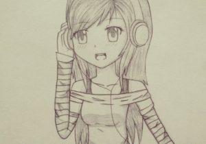 300x210 Pretty Anime Drawing