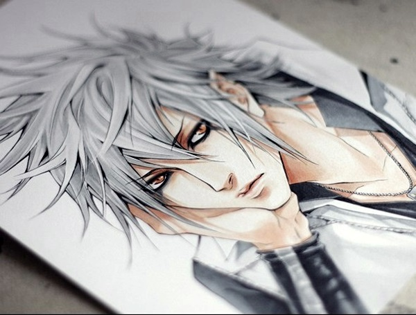 600x455 40 Amazing Anime Drawings And Manga Faces