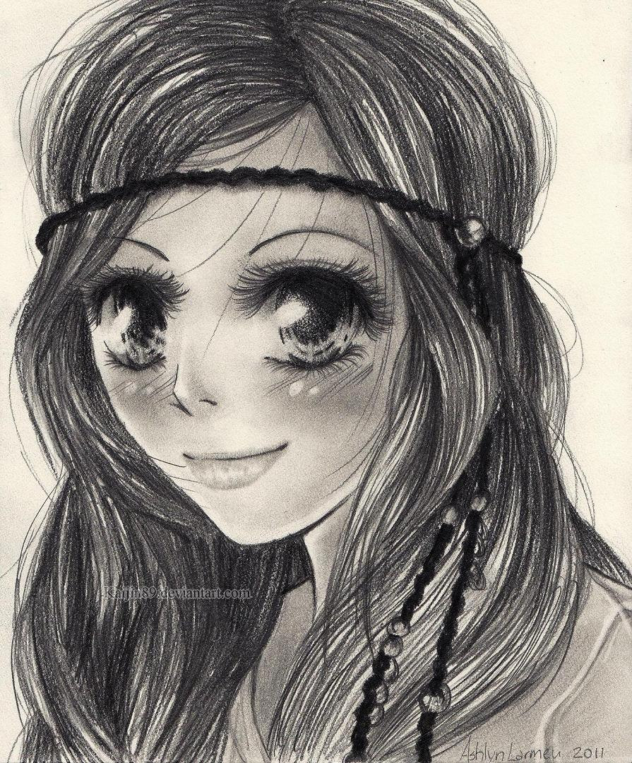 Anime Drawing In Pencil At Getdrawings