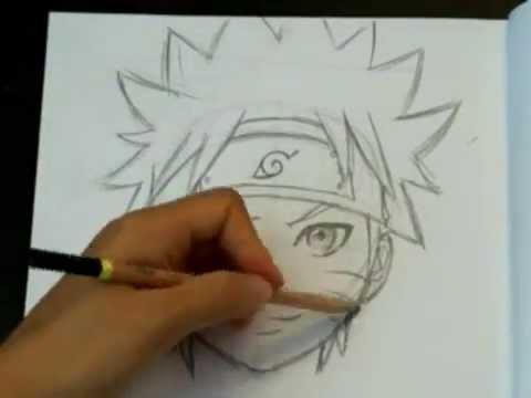 480x360 How To Draw Naruto (Face And Head)