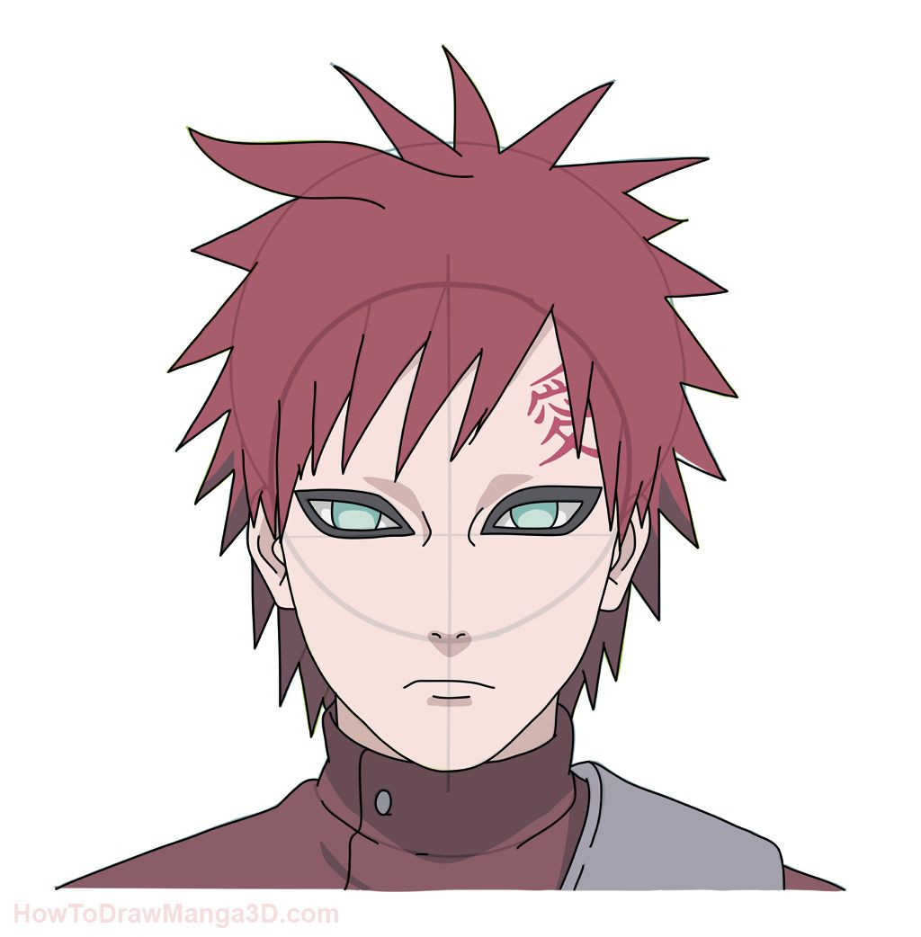 1024x1042 How To Draw Gaara From Naruto Step By Step Art
