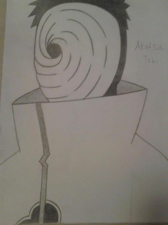 540x720 Pencil Drawing Of Tobi From Naruto By Tyshoru