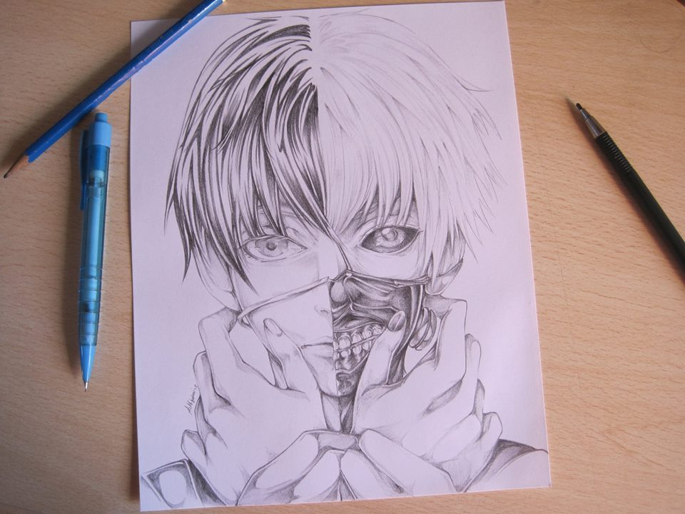 960x720 kaneki ken pencil art by ashigami on deviantart