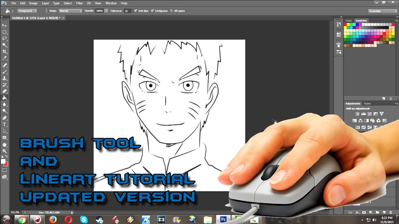 1280x720 How To Draw Anime And Setup Brush For Linework In Photoshop Cs6 By