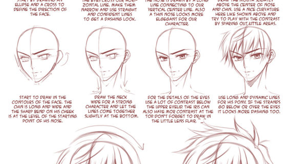 570x320 anime boy drawing tutorial how to sketch an anime boy step by