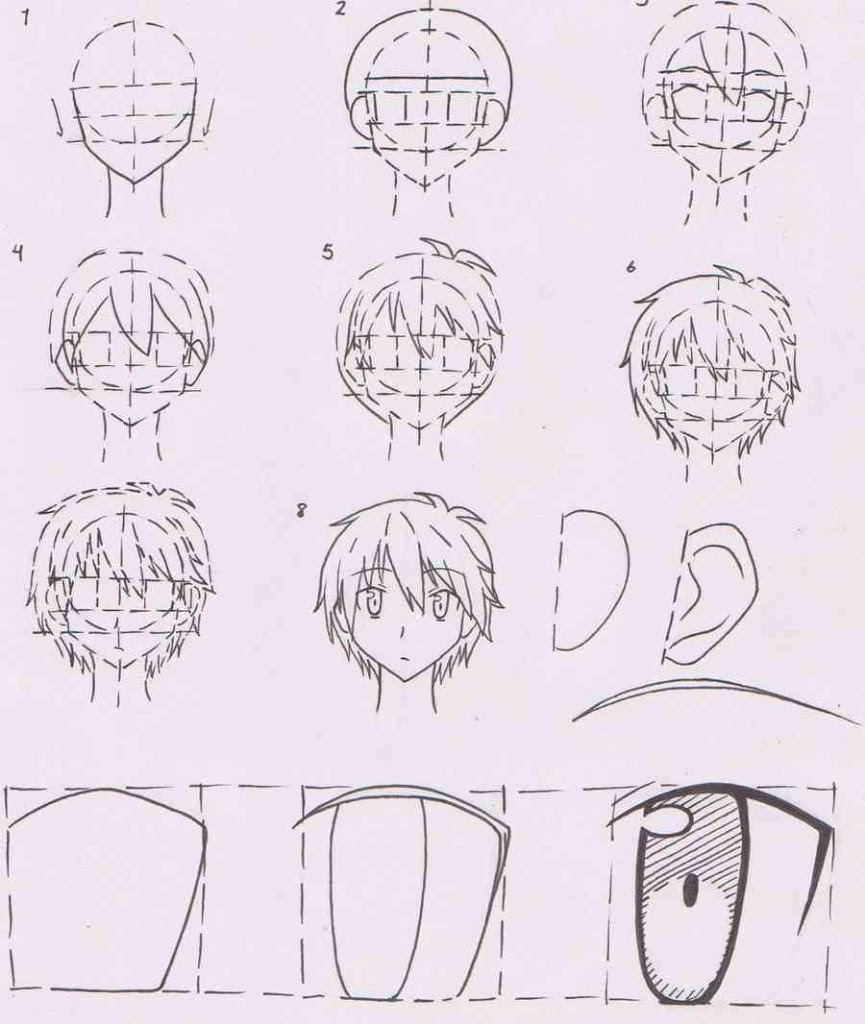 865x1024 Anime Drawing Tutorials