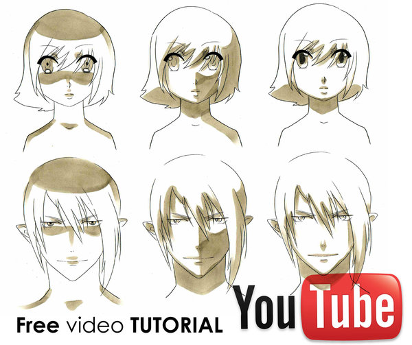 600x503 How To Draw Manga Shading Faces Video Tutorial By Mistiqarts