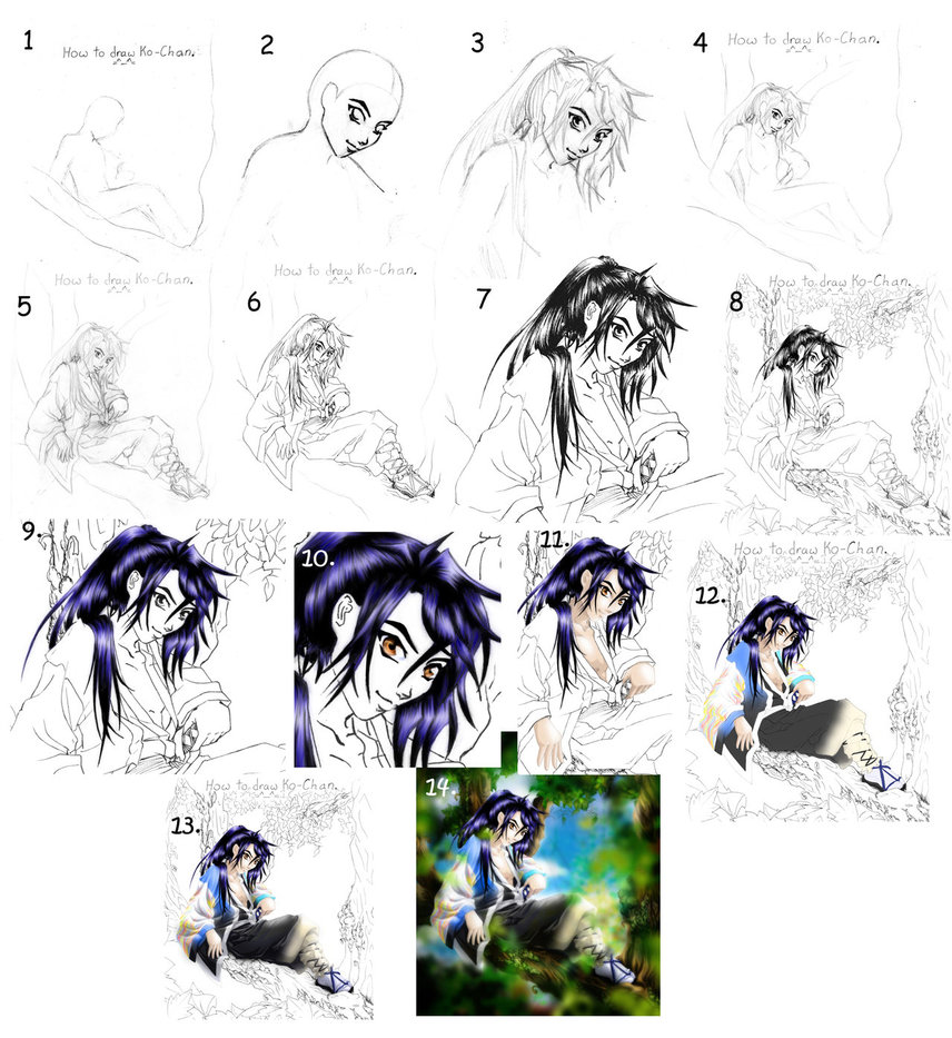 856x933 Tutorial Drawing Anime Guide By Manic Goose