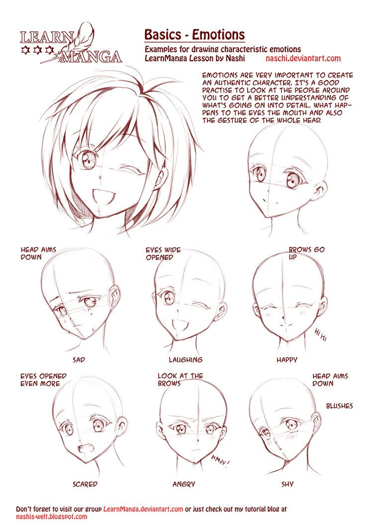 752x1063 Learn Manga Emotions By Naschi On , How To Draw Manga
