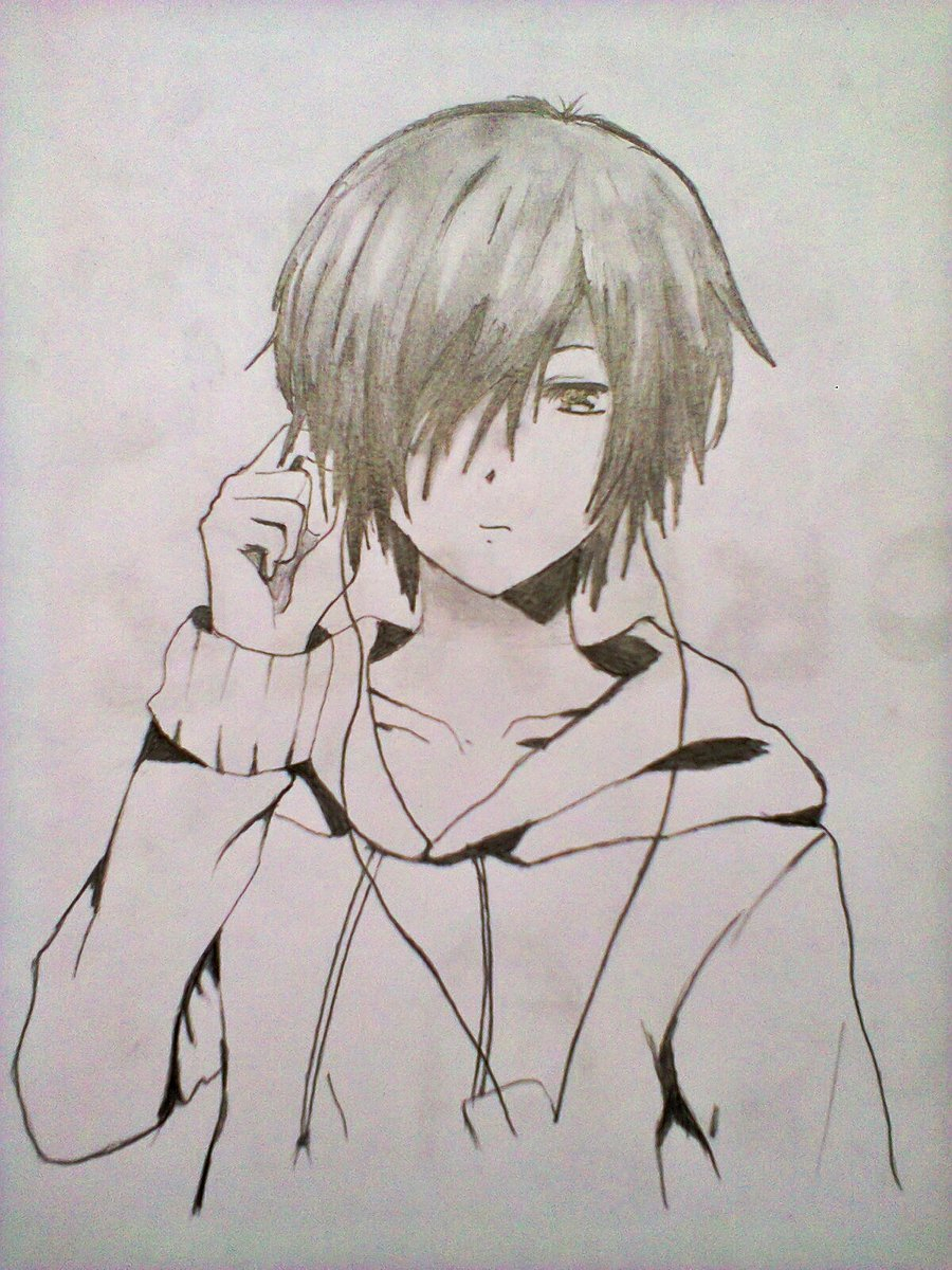 900x1200 anime boy drawings anime boy realistic art pencil drawing images