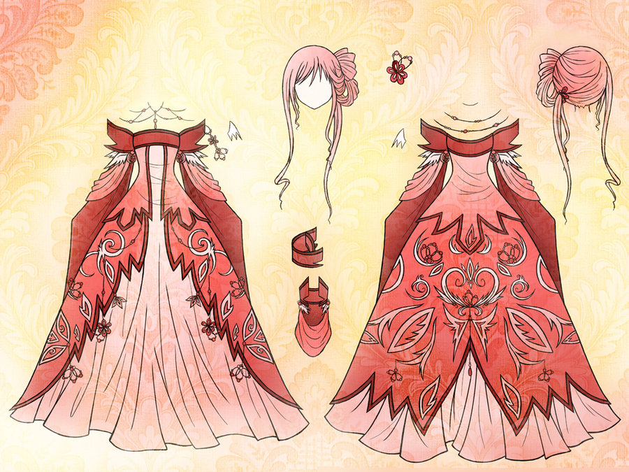 900x675 angel dress design by eranthe on deviantart
