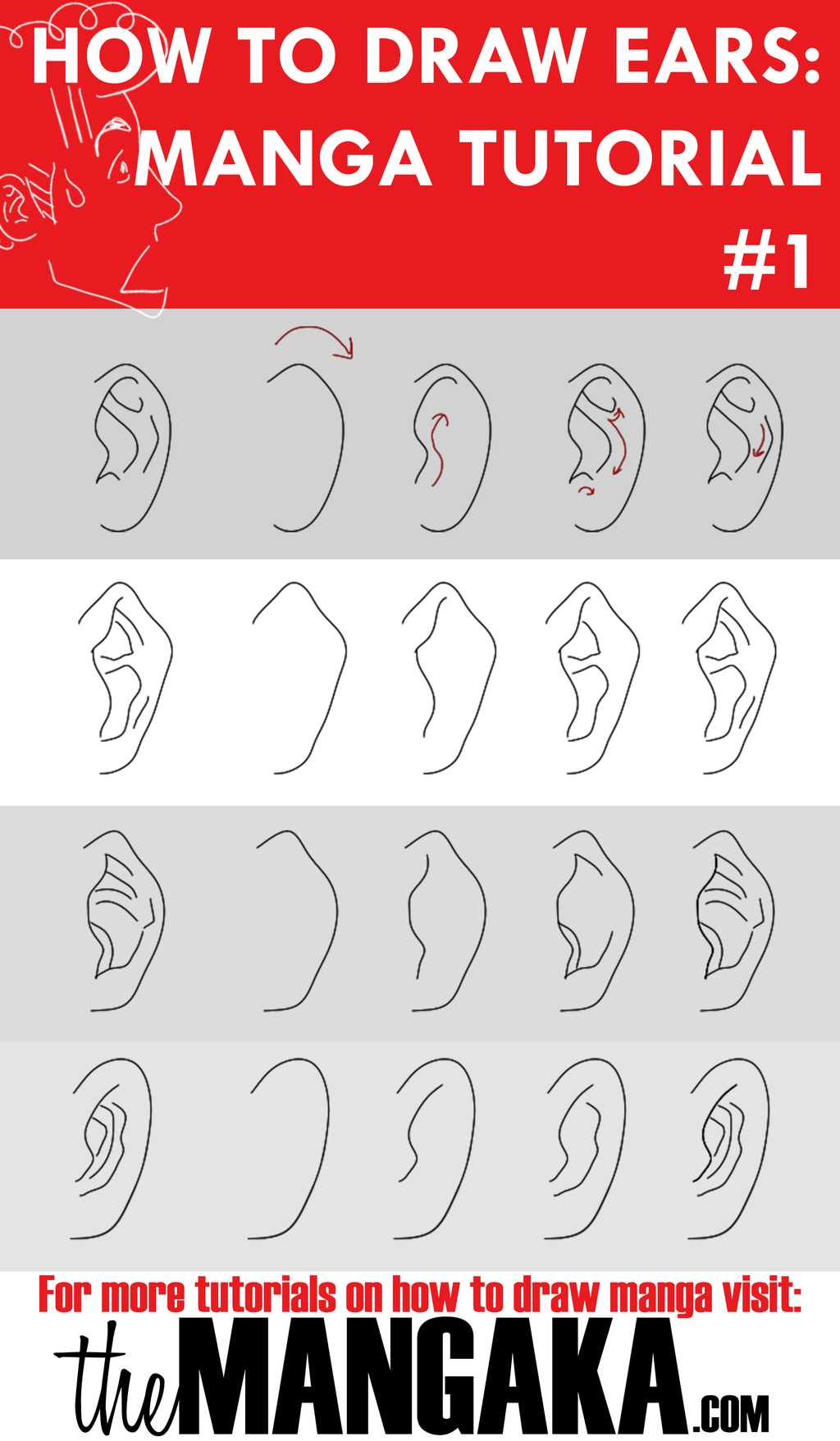 1024x1756 How To Draw Ears Manga Tutorial By Mangakaofficial