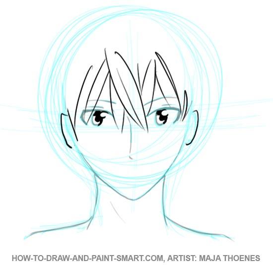 550x534 How To Draw Anime Boys