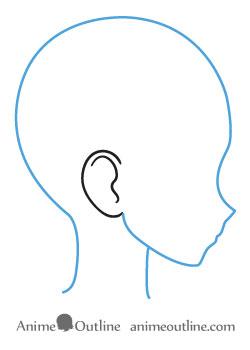 250x350 How To Draw Anime And Manga Ears Anime Outline