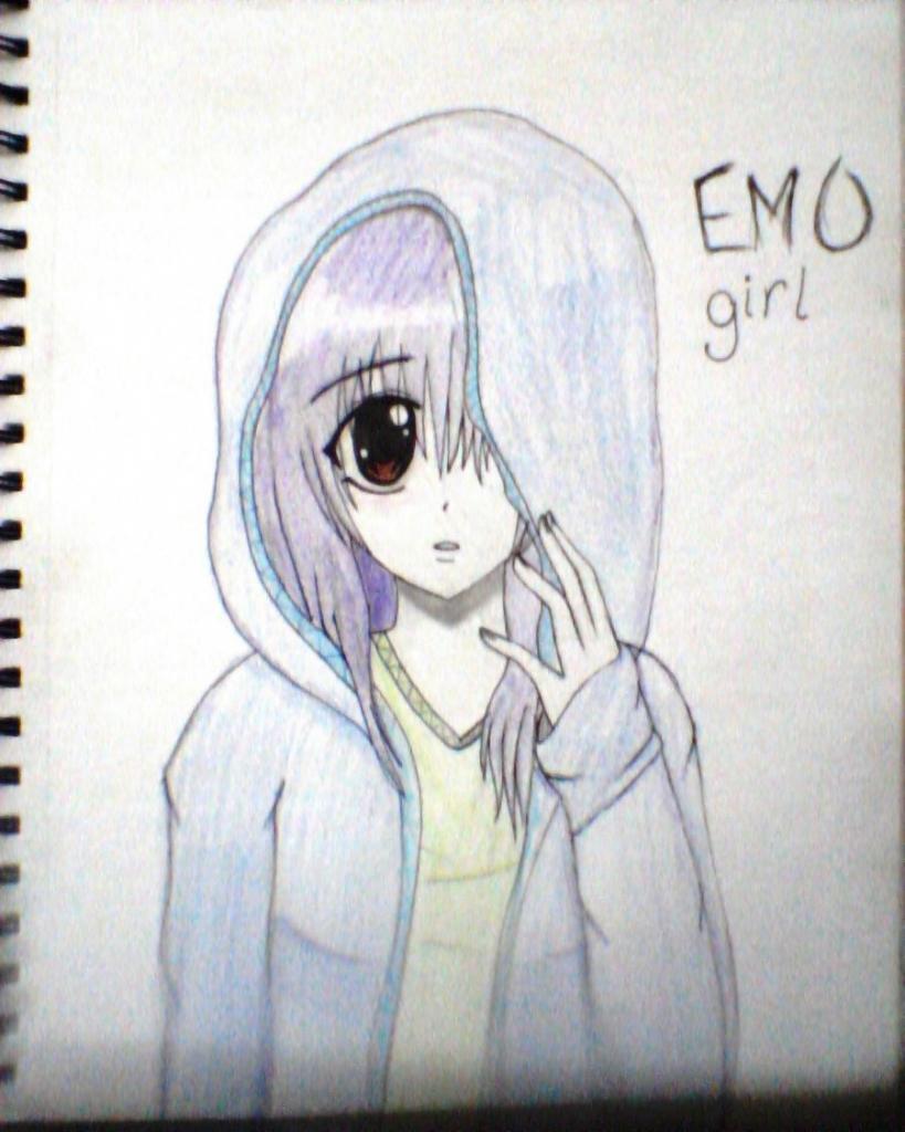 819x1024 Easy Drawings Anime Easy Anime Drawings Emo Scene Gurl
