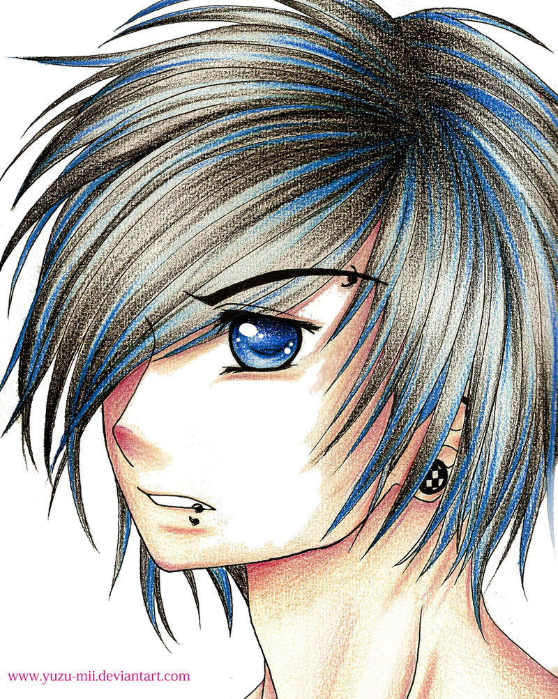 800x1003 Anime Emo Boy Drawing Thinking Of Changing My Hairhmmm Anime