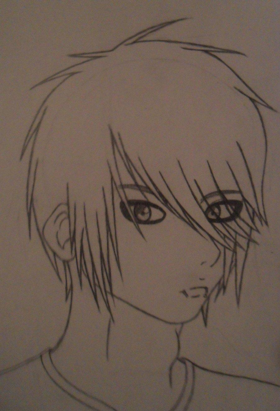 900x1320 Emo Boy Drawing By Amiaice