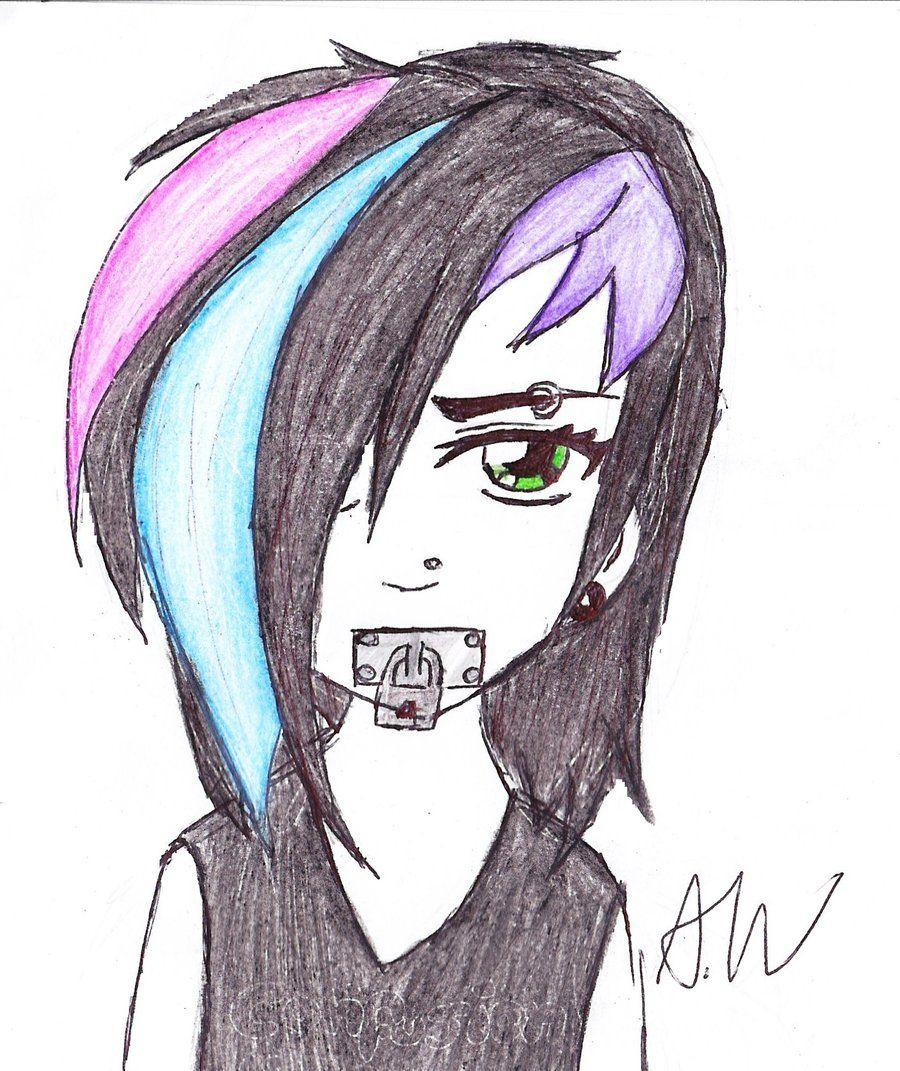 900x1071 Anime Emo Girl Drawing Sketch Art Illustrations