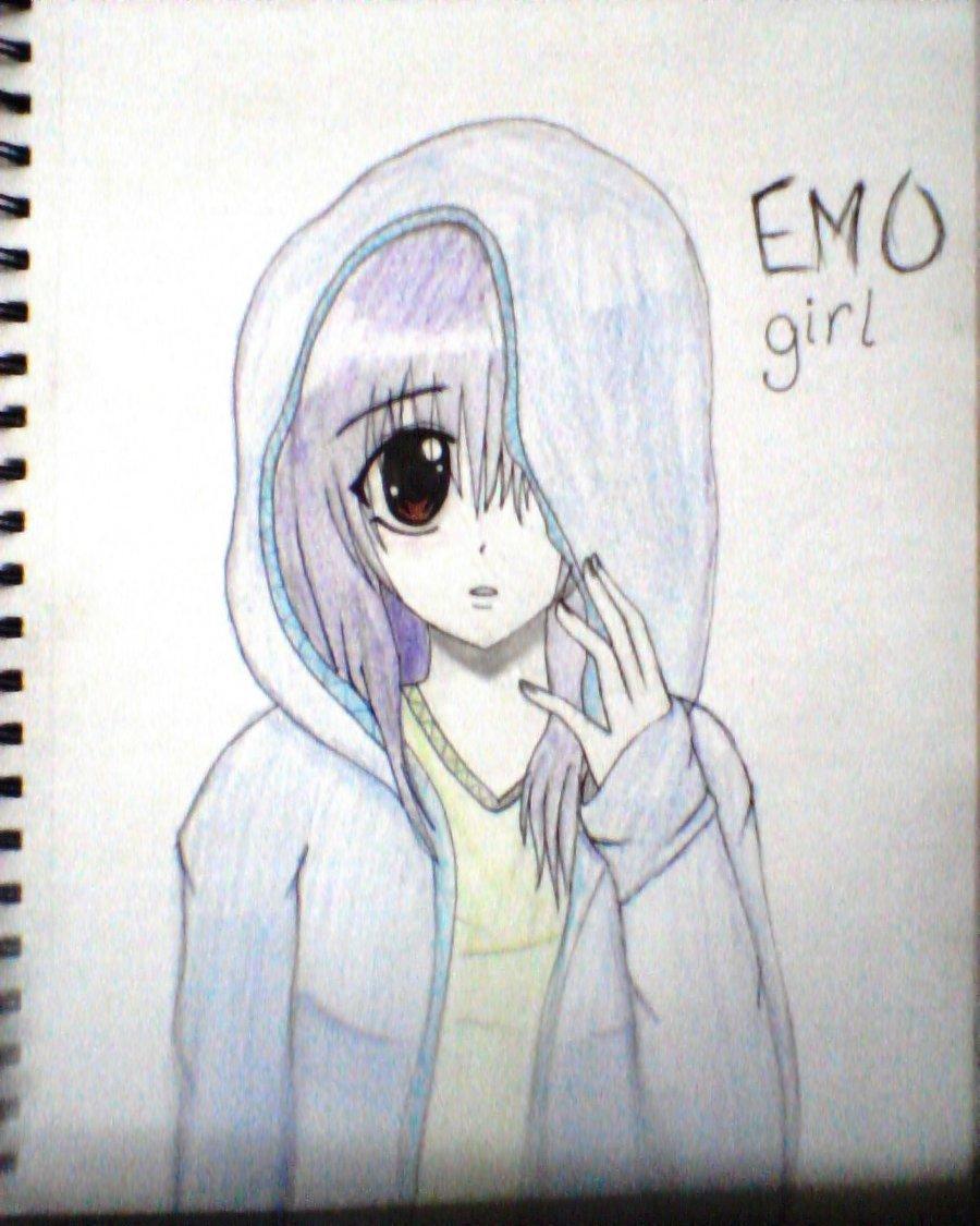 900x1125 Cool Easy Anime Drawings Anime Emo Girl Easy Emo Anime Drawings