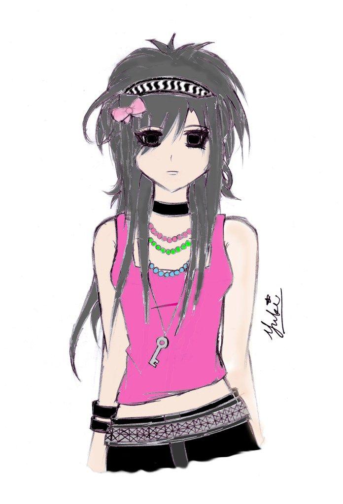 696x1024 Emo Girl By Kyotoyuki On Animehunter 1.0