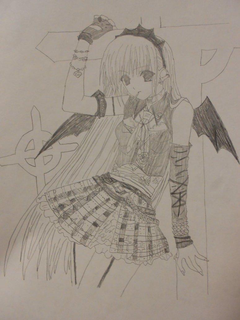 774x1032 Random (Anime)~drawings~4~[Emo Girl!!]~ By Rainnysky