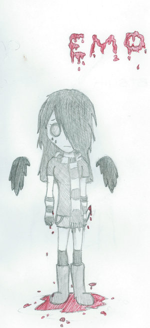 300x657 Emo Anime Girl Drawing By Ngasiaxawesome