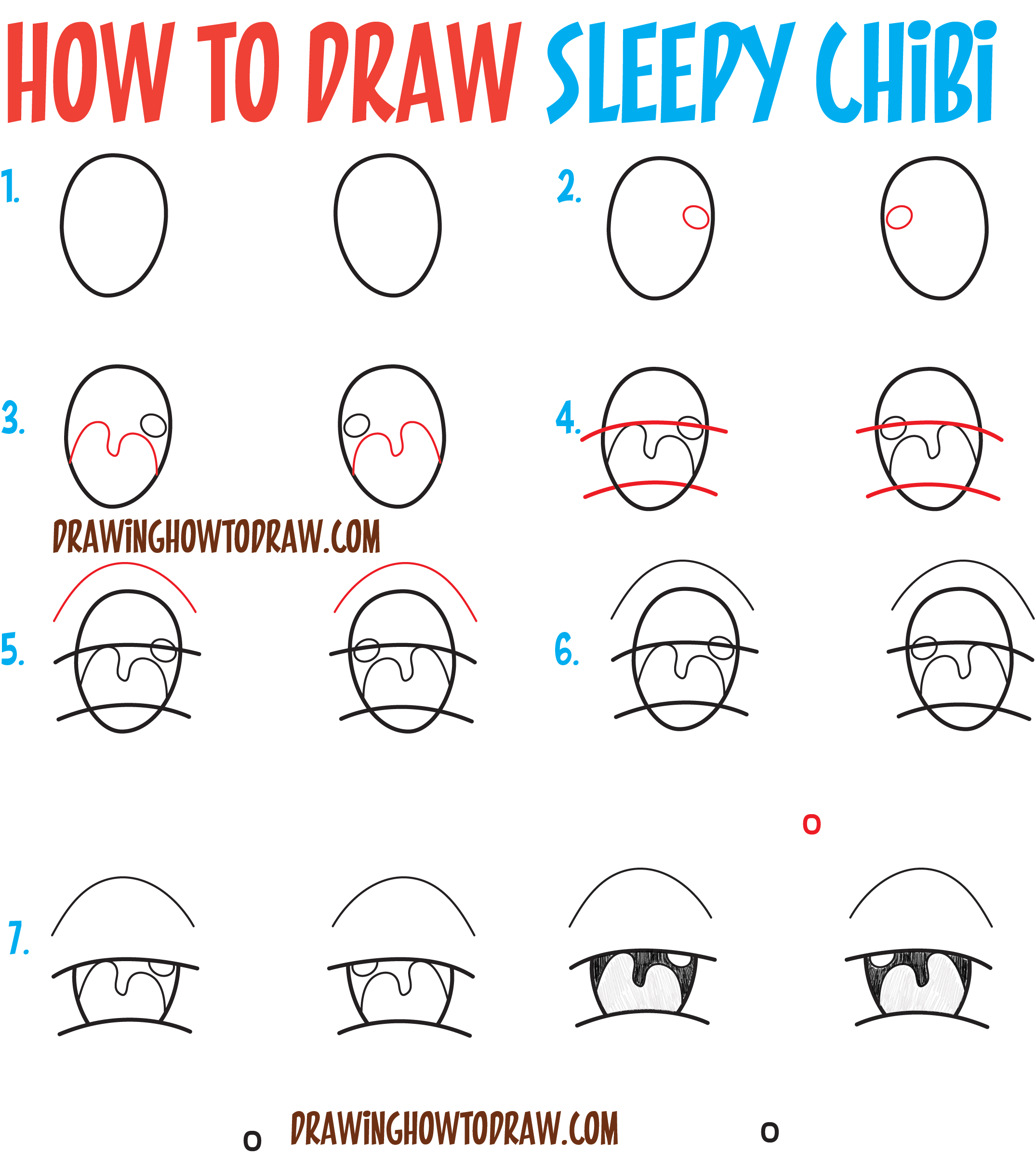 2150x2392 Anime Drawing Tutorial For Beginners How To Draw Tired Sleepy