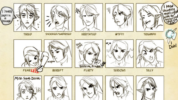 570x320 Anime Face Expression Drawing Face Expressions Chart Link By