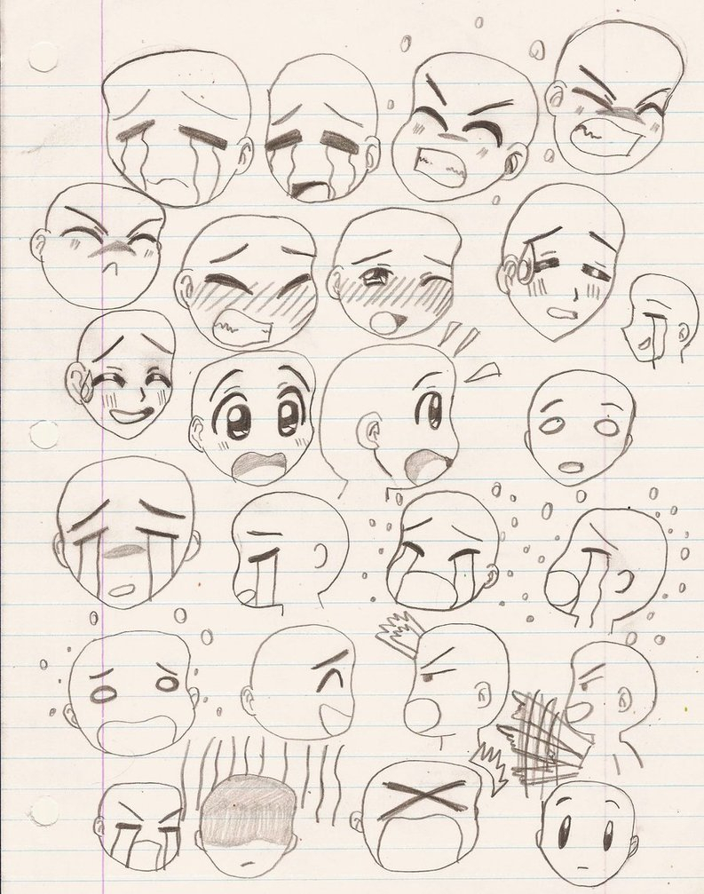 793x1007 Drawing Anime Expressions Tenma Tsukamoto's Anime Facial