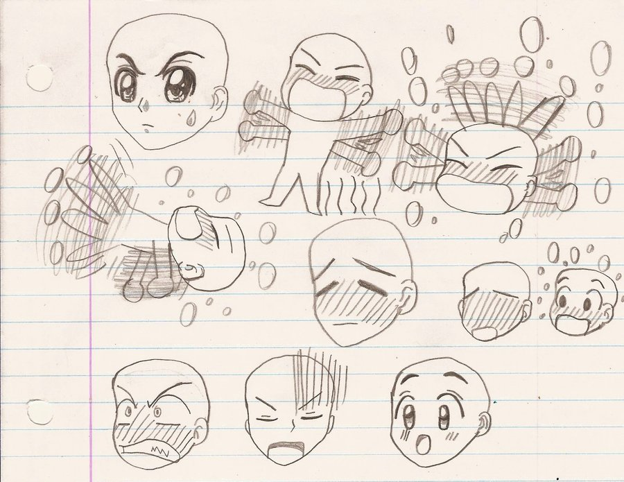 900x695 Tenma Tsukamoto's Anime Facial Expression Sketch 2 By Magic