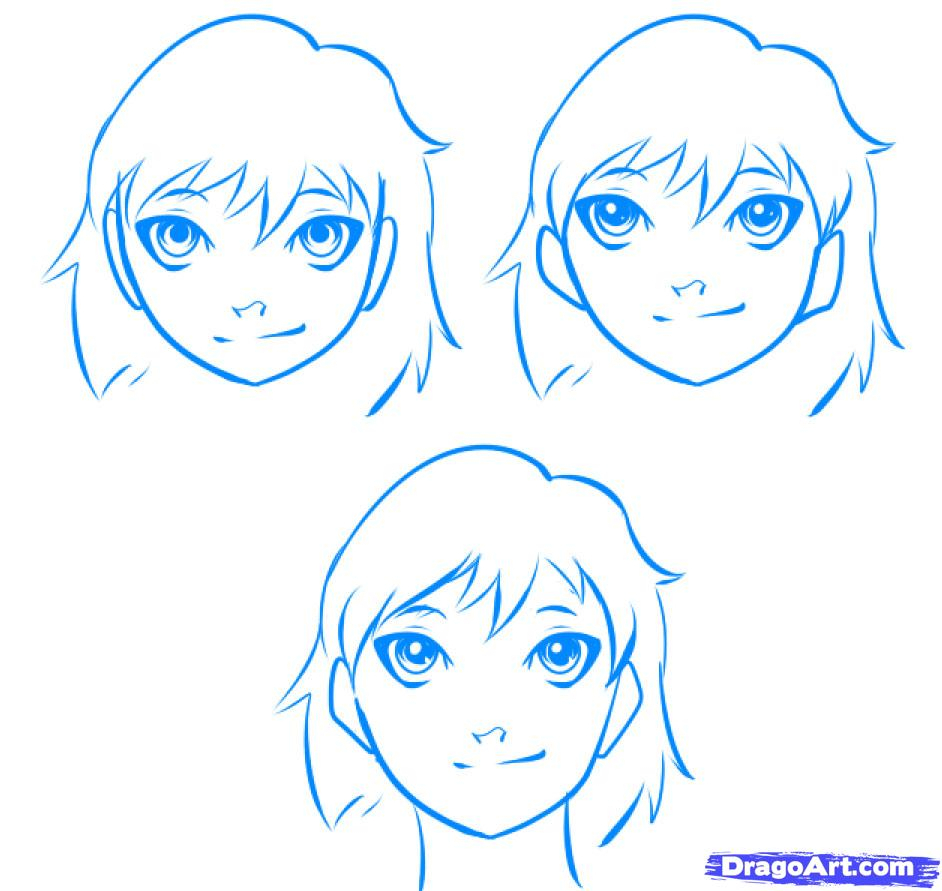 942x891 Easy To Draw Anime Faces