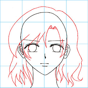 300x299 How To Draw Manga The Female Face Drawing A Female Face