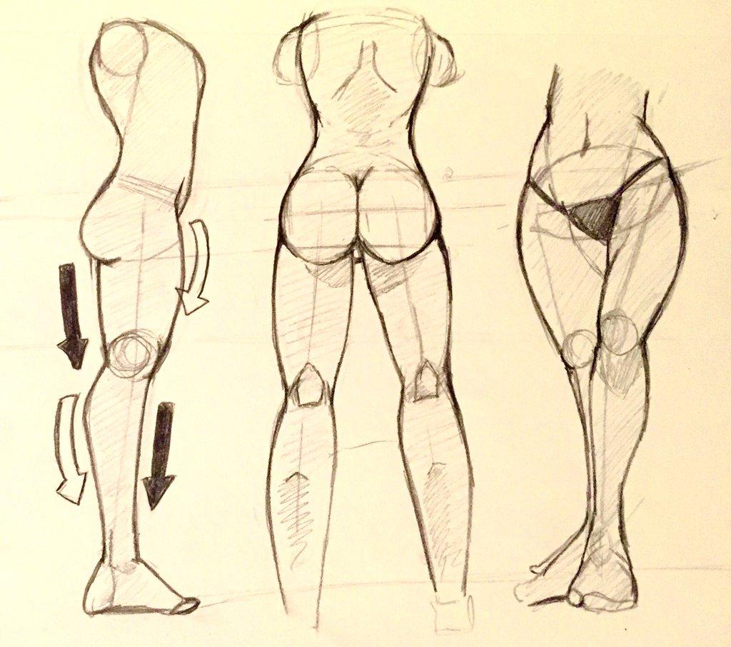 1024x906 Female Anime Drawings Hips, Legs, And Butt By Snavenekdrawings