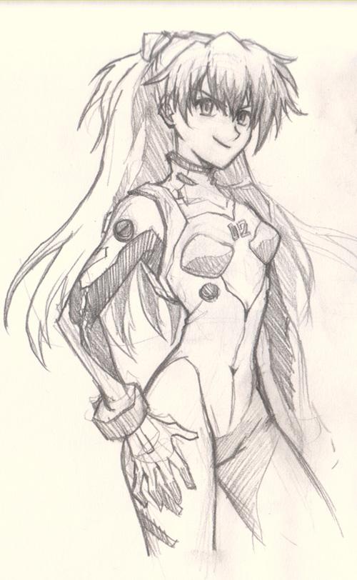 500x812 Anime Traditional Girl How Draw Anime Girl Asuka Eva How