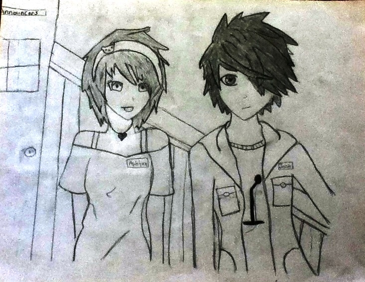 733x568 anime girl and boy drawing free