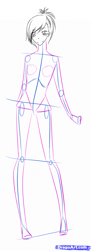 373x1024 Drawing Anime Female Body