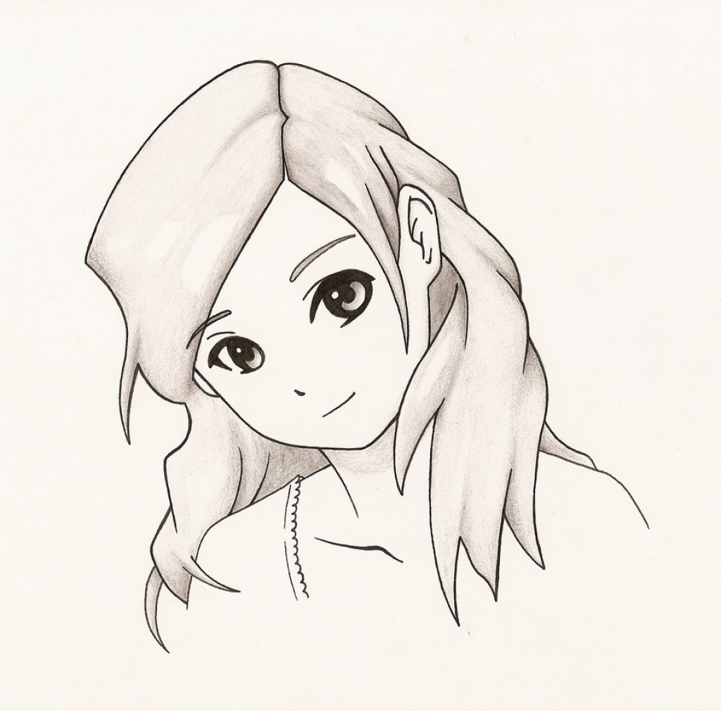 1024x1009 Anime Drawing Girls Easy Draw Anime Girl