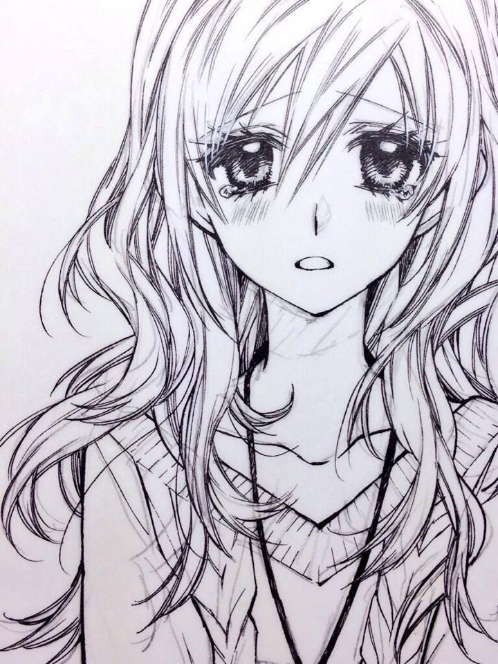 Anime girl drawing easy sad 1 720x960 dã¼nyanä±n her yerinden en gã¼zel resimleri keåÿfet ve paylaåÿ