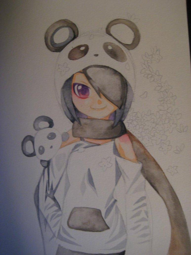 774x1032 My Panda Anime Girl Drawing By Angelbeatshisako050