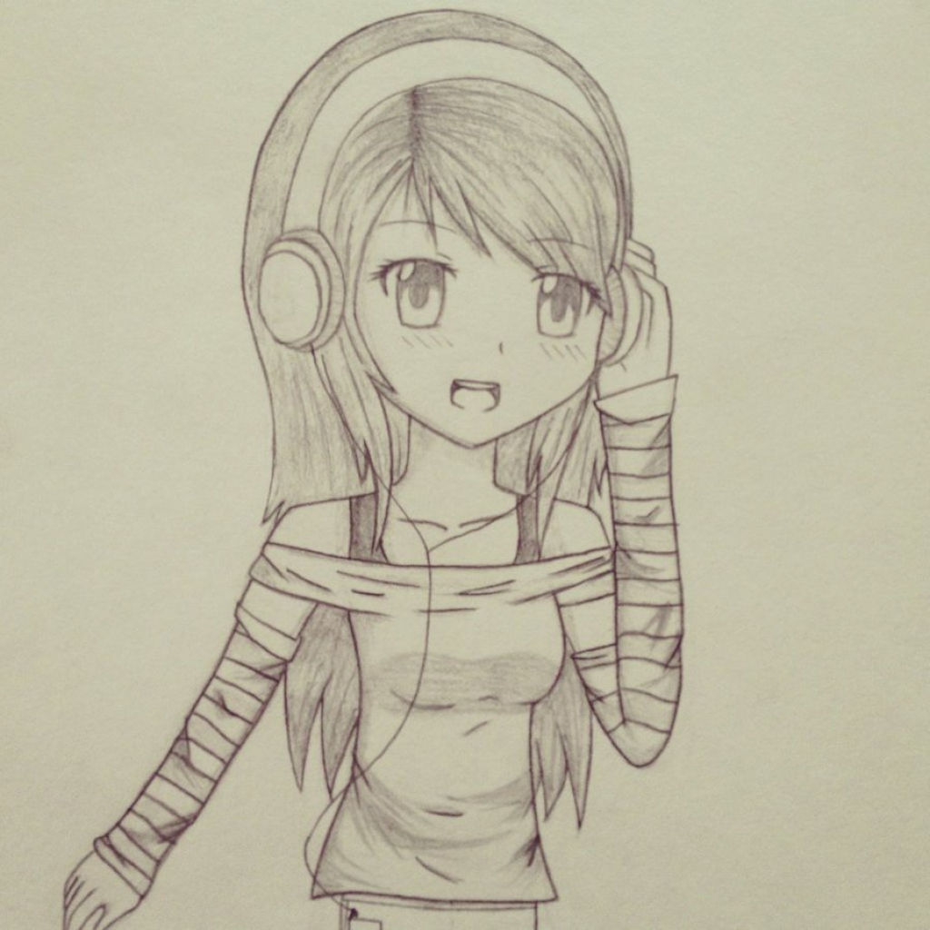 Anime Girl Drawing A Picture At Getdrawings Com Free For Personal