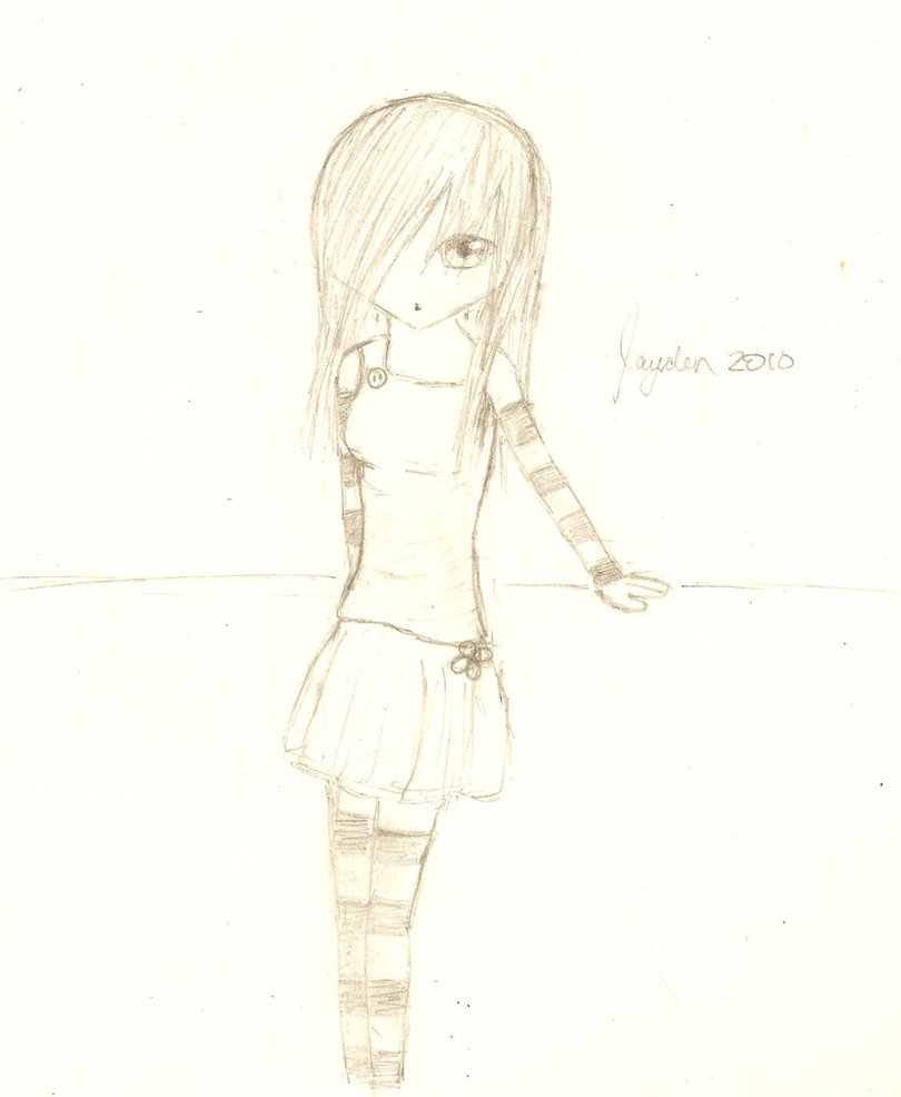 810x986 Anime Girl Full Body By Brightblossom