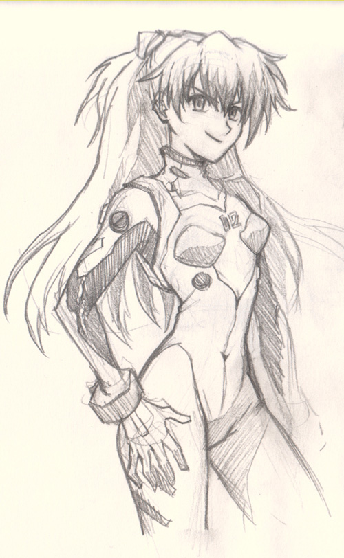 500x812 How To Draw Anime Girl Asuka Eva By Dpunk352