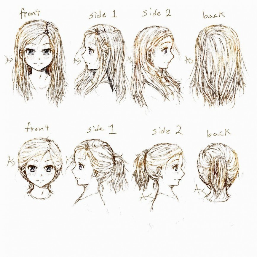 867x867 42 Things You Should Do In Anime Girl Hairstyles anime A Pren