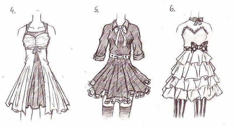 Anime Girl Dress Drawing at GetDrawings.com